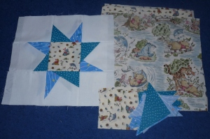 Wonky Star Quilt WIP