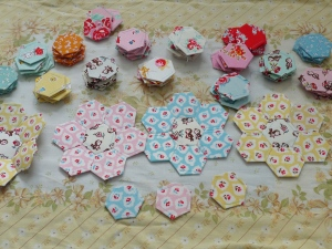 Milk, Flower and Sugar Hexagons EPP