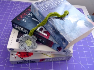 Crochet Daisy Bookmark Reading