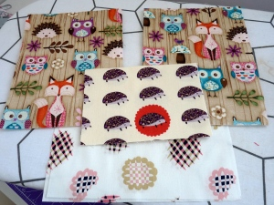 Woodland Owl Hedgehog Fabric